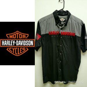 🏍 Harley Davidson WI Born Blck/Gry/Rd Shop Shirt